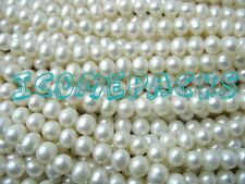 """wholesale 10 strands 14"""" 5-6mm white near round pearl beads  nature discount hot"""