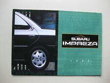 Subaru Impreza prestige brochure Prospekt English text 24 pages 1993 Canada