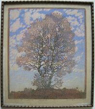 Rudolf Frederich (1886-1976) Märzbirke Orig. Farbholzschnitt 1919 signiert