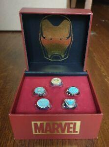Marvel: Avengers Endgame - Iron Man Arc Reactors Ring Set by Salesone