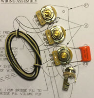 TAOT Jazz Bass® 70's Split Shaft Wiring Kit - CTS 250K Pots  -.047 Orange Drop