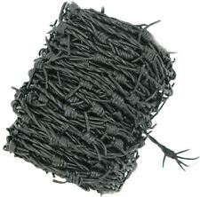 Leather Fake barbed wire Black