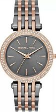 Michael Kors MK3584 Women's Darci Black IP Rose Two Tone Crystal Accented Watch