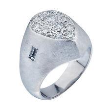 14K White Gold Diamond Mens Ring  1.00ct  Size 7.5  17.15 Grams