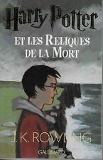 HARRY POTTER T. 7 : ET LES RELIQUES DE LA MORT - GRAND FORMAT - TBE - ROWLING