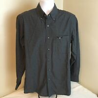 Wrangler Relentless Trevor Brazile Mens Cowboy Shirt Medium Black Gray Check FS!