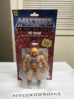 NEW Masters of the Universe Origins Walmart He-Man Battle Figure MOTU Retro 2020