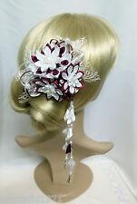 Franzözische Haarspange Haarschmuck Kanzashi Brautschmuck Stoffblumen Haarklemme
