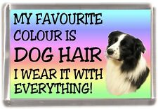 "Border Collie Dog Fridge Magnet ""My Favourite Colour is Dog Hair"" by Starprint"