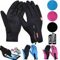 Winter Warm Windproof Waterproof Anti-slip Thermal Touch Screen Gloves Zipper