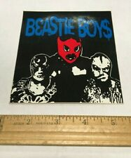 Beastie Boys luchador Masks Sticker Rare 1990s Sabotage Mike D Nyc Party Nos