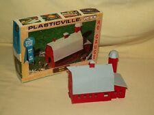 PLASTICVILLE BARN 2602 FARM DISPLAY BACHMANN TRAIN USA ORG BOX AS IS USED RED.