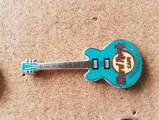 Hard Rock Cafe Pin JOHANNESBURG Core Guitar Turquoise 3 String