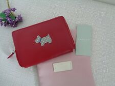BNWT Radley Heritage Dog Small Zip Around Red Leather Purse