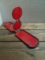 Vintage Emergency Roadside Red Reflector Micro Flare Flex #18 Folding Case Metal