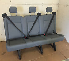 2015 Ford Transit Van 3 Person Couch Bench Seat Gray Vinil with BRACKETS w/CUT