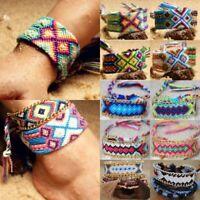 Hot Friendship Handmade Bracelet Woven Rope Boho String Hippy Embroidery Jewelry