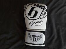 A signed Ricky Hatton glove
