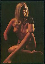 Daily Girl Press European Pinup pin up nude woman original c1950s postcard a02