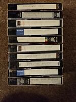 Lot Of 10 - VHS Tapes - Pre-Recorded Movies on Mix Labels - Sold As Used Blanks