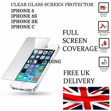 100%25 GENUINE TEMPERED GLASS SCREEN PROTECTOR PROTECTION FOR APPLE iPhone SE 5S 5