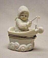 "Dept. 56 Snowbabies ""Rock-A-Bye Baby"" Hinged Box Figurine # 56.68848"