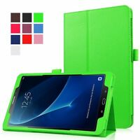 """Leather Flip Folio Case Stand Cover For Samsung Galaxy Tab A6 10.1"""" T580 T585"""