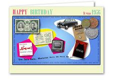 62nd Birthday Card Souvenir of 1956 (2018)