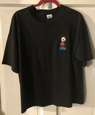 Vintage Mickey Mouse T-shirt Black Wide 90's