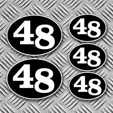 CAFE Racer 48 adesivi retrò, scooter, Racer, Rocker Decalcomanie Kustom Harley BSA