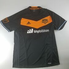 Houston Dynamo Adidas Mens Size Large Away Jersey Black Orange MLS