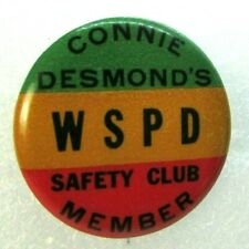 RARE BUTTON FOR CONNIE DESMOND LONG TIME BROOKLYN DODGERS RADIO BROADCASTER WSPD