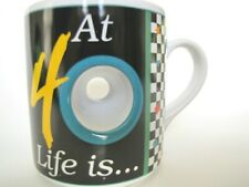 """At 40 Life is a """"Hole"""" Lot of Fun"""" Collectible Fun Coffee Mug Cup Tea Papel"""