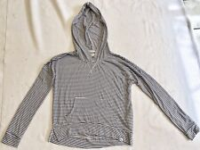 Abercrombie Kids Navy And White Striped Hooded Popover Sz M EEUC