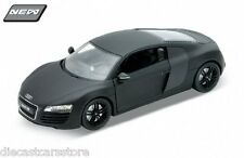 WELLY AUDI R8 MATT BLACK NEMESIS1/24 Diecast cars New In Box 22493