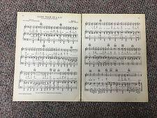 "Vtg LOUISIANA STATE UNIVERSITY song sheet  ""TIGER TEAM OF LSU"" c 1938"