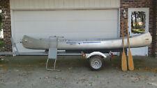 New listing Grumman 15 foot aluminum Canoe with trailer