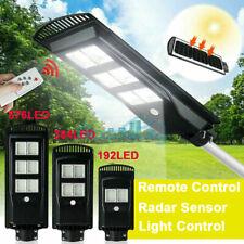990000LM LED Solar Street Light Radar Induction Sensor Outdoor Road Lamp+Pole