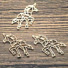 5pcs Animal charm gold tone Unicorn charm pendant 31X29mm