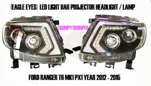LED DRL PROJECTOR HEADLIGHT Head Lamp FORD RANGER T6 PX MK1 2012 - 2015 WILDTRAK