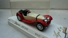 SOLIDO MADE IN FRANCE REF 4002 JAGUAR SS 100 CREME / ROUGE NEUF EN BOITE