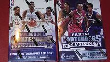 2016 & 2017 Panini Contenders Basketball  Box  Lot  2 autos Per Box On Av