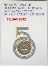 Portugal 2 euro 2007 Treaty of Rome BU official Folder Bimetal Roma