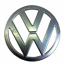 VW SPLITSCREEN FRONT BADGE, BARE STEEL. VW BUS TYPE 2 CAMPER VAN SPLIT SCREEN