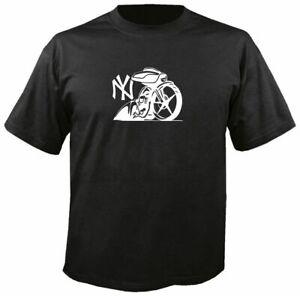 NEW YORK BAGGERS T SHIRT biker bagger mc motorcycle touring harley glide custom