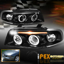 1996-1999 Audi A4/S4 B5 Halo Projector LED Black Headlights Corner Signal Lights