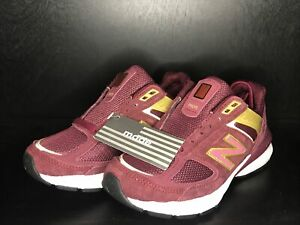 NEW BALANCE - Women's 990 Running Shoe Sneakers W990BG5 Burgundy Gold - Size 5.5