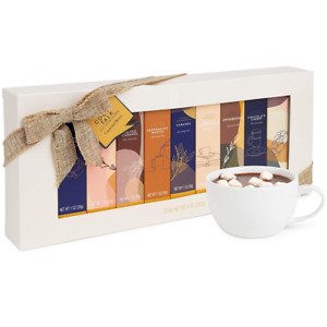 Thoughtfully Gifts, Gourmet Hot Chocolate Cocoa Gift Set 0.98 Ounce (Pack of 9)