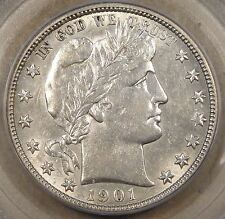 1901-O Barber Half Dollar PCGS AU55 Lusterous PQ Key Date There is a small sawdu