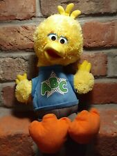 "WORKS-SESAME STREET ROCKIN ABC BIG BIRD TALKING SINGING 14"" PLUSH 2010 EUC TOYS"